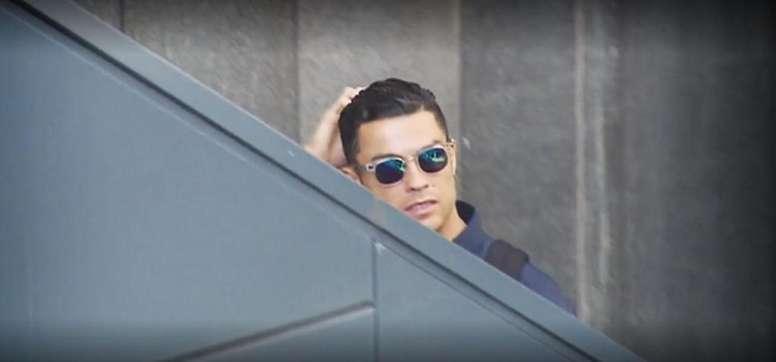 Ronaldo made another gesture. Screenshot/Cuatro