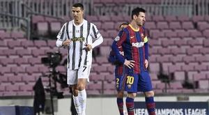Allegri explicou a grande diferença entre Messi e Cristiano Ronaldo. AFP