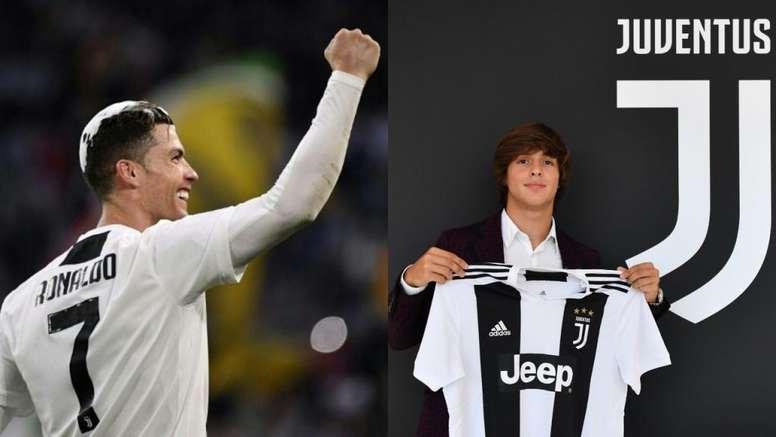 Pablo Moreno afirma que CR7 le ha ayudado a adaptarse a la Juventus. AFP/Juventus