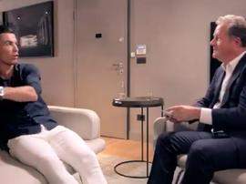 Cristiano se sincera con Piers Morgan. Captura/ITV