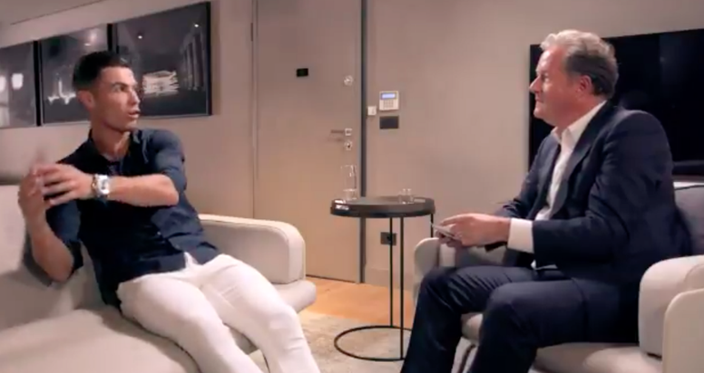 Cristiano se sincera con Piers Morgan. Captura/ITV