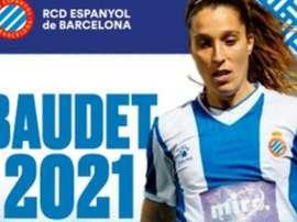 Baudet y Lombi firmaron hasta junio de 2021. Twitter/RCDEFemeni