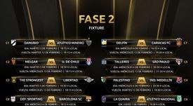 La Libertadores ya conoce sus siguientes duelos. Twitter/Libertadores