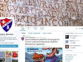 El CD Barco es el primer club que tiene una cuenta de Twitte oficial en esta latín. Twitter