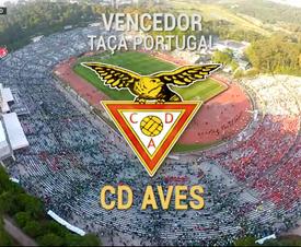 D. Aves campeão da Taça de Portugal. Captura RTP1