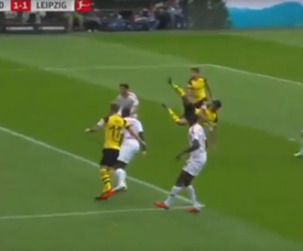 Dahoud put Dortmund level with a stunning header. BeInSports
