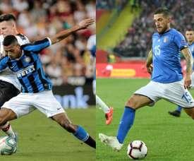 Dalbert irait à la Fiore et Biraghi à l'Inter. AFP