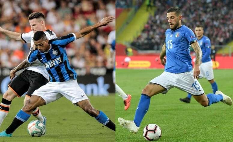 Dalbert irá a la Fiorentina y Biraghi al Inter. AFP