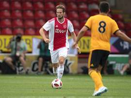 Daley Blind came on in the friendly match against Wolves. TwitterAFCAjax