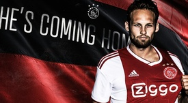 Blind regresa al Ajax. Twitter/AFCAjax