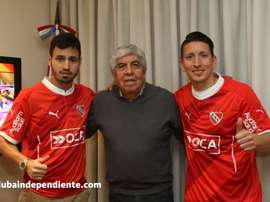 Damián Martínez y Juan Sánchez Miño, nuevos jugadores de Independiente. Independiente
