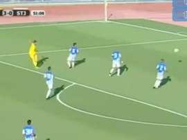 Dani Benítez marca su primer gol en competición europea con el AEL Limassol. Twitter