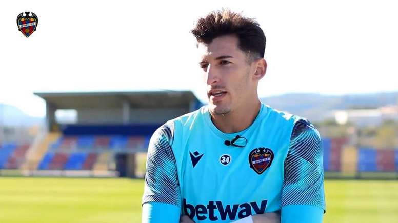 Dani Cárdenas debutó con el Levante. Captura/LevanteUD