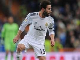 Dani Carvajal, pendant un match avec le Real Madrid. Twitter