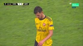 He went off injured. Screenshot/Movistar