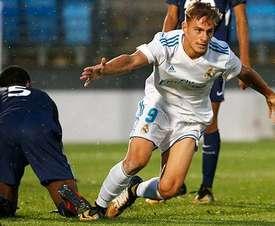 Dani Gómez, a un paso de salir del Madrid. RealMadrid