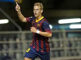 Dani Nieto, en su etapa con el Barça B. SDEibar