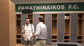 Dani Poyatos, nuevo entrenador del Panathinaikos. Captura/PAO