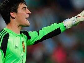 Dani Sotres, en un partido con las inferiores de España. LevanteUD