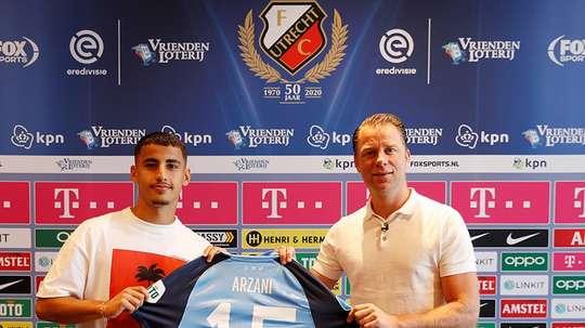 Arzani has signed for Utrecht. Twitter/FCUtrecht