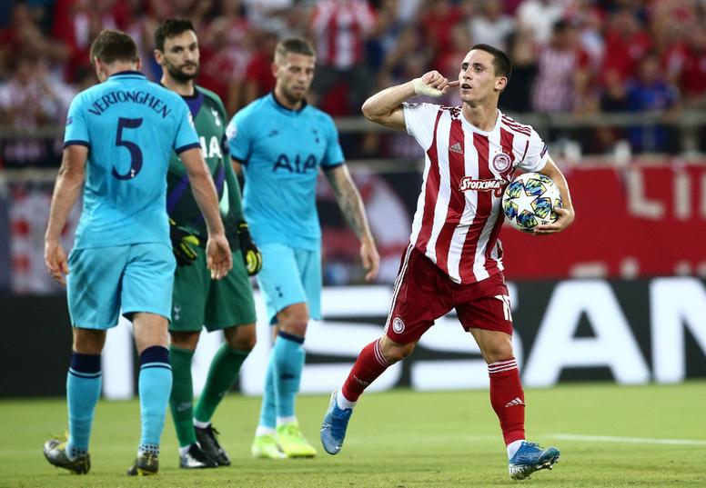 Daniel Podence suena para Arsenal y Sevilla. OlympiacosFC