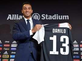 Danillo a été présenté comme nouveau joueur de la Juve. JuventusFC