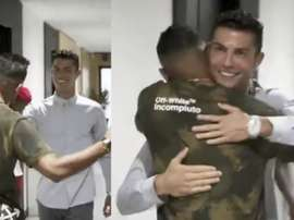 Danilo et Cristiano se retrouvent.  JuventusFC