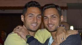 Danilo y Dario D'Ambrosio, jugadores italianos y hermanos gemelos.