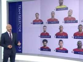 Os onzes de Liverpool e United que incendiou as redes. Captura/SkySports