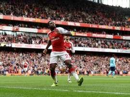 O Arsenal bateu o Milan por 3-1. AFP