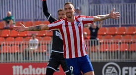 Darío marcó la diana del empate. Twitter/AtletiAcademia