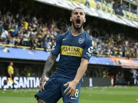 Benedetto salió desde el banquillo para marcar el 2-1. BocaJuniors