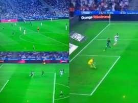 Darío Benedetto sumó su segundo gol en Ligue 1 adelantando al OM. Captura/Canal+