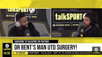 Darrent Bent habló sobre la situación de Cavani en el United. Captura/Youtube/talkSPORT