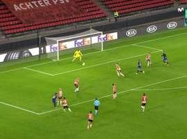 El Granada remontó en Eindhoven. Captura/MovistarLigadeCampeones
