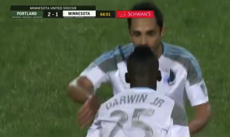 Debut con gol de Darwin Quintero. Captura/FoxSports