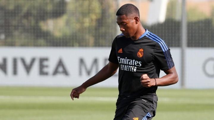 Alaba is already training under Ancelotti's orders. Twitter/RealMadrid