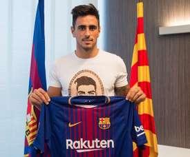 David Costas a fait ses débuts avec l'équipe principale du club. Web/FCBarcelona