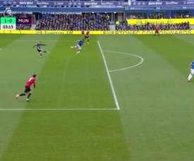 De Gea fait du Sergio Rico et offre un but à Everton. Capture/DAZN