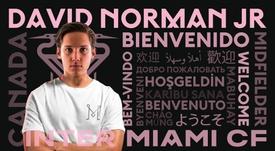 David Norman llega a cambio de una ronda del SuperDraft MLS. Twitter/InterMiamiCF