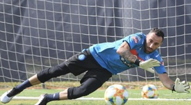 Ospina n'a pas peur du Barça. Twitter/SSCNapoli