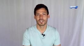 David Silva falou com a torcida 'txuri-urdin'. Captura/RealSociedadTV