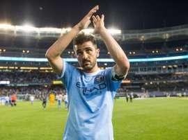 David Villa, uno de los autores de los mejores tantos de la MLS. NYCFC