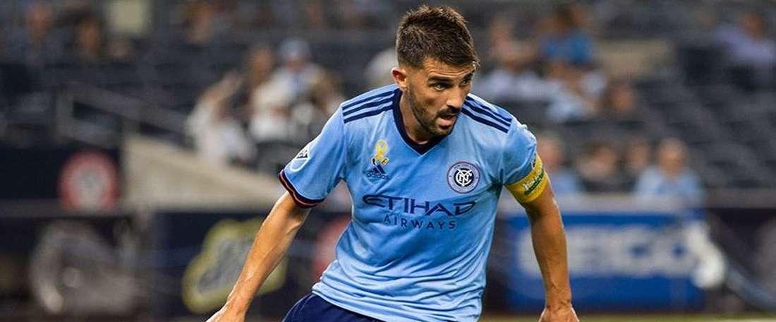 Villa fue titular pero no pudo evitar la derrota de los suyos. NYCity