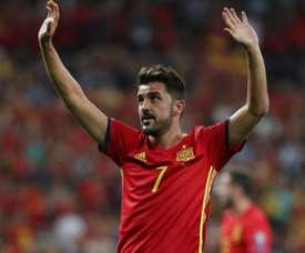 David Villa spoke about his career. EFE