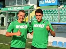Davide Frattesi y Riccardo Marchizza han llegado al Sassuolo por 7'5 millones de €. SassuoloUS