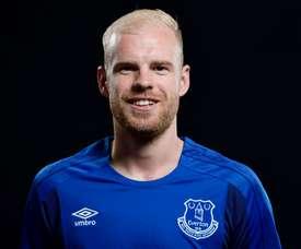 Klaassen a rejoint Everton l'été dernier. Twitter/Everton