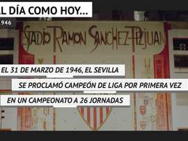 La primera Liga del Sevilla cumple 74 años. DAZN