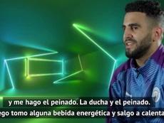 Simpática entrevista de Mahrez. DAZN