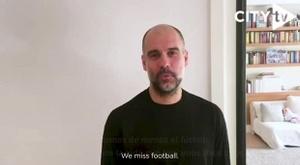 Guardiola mandó un mensaje a los aficionados del City durante la pandemia. DAZN